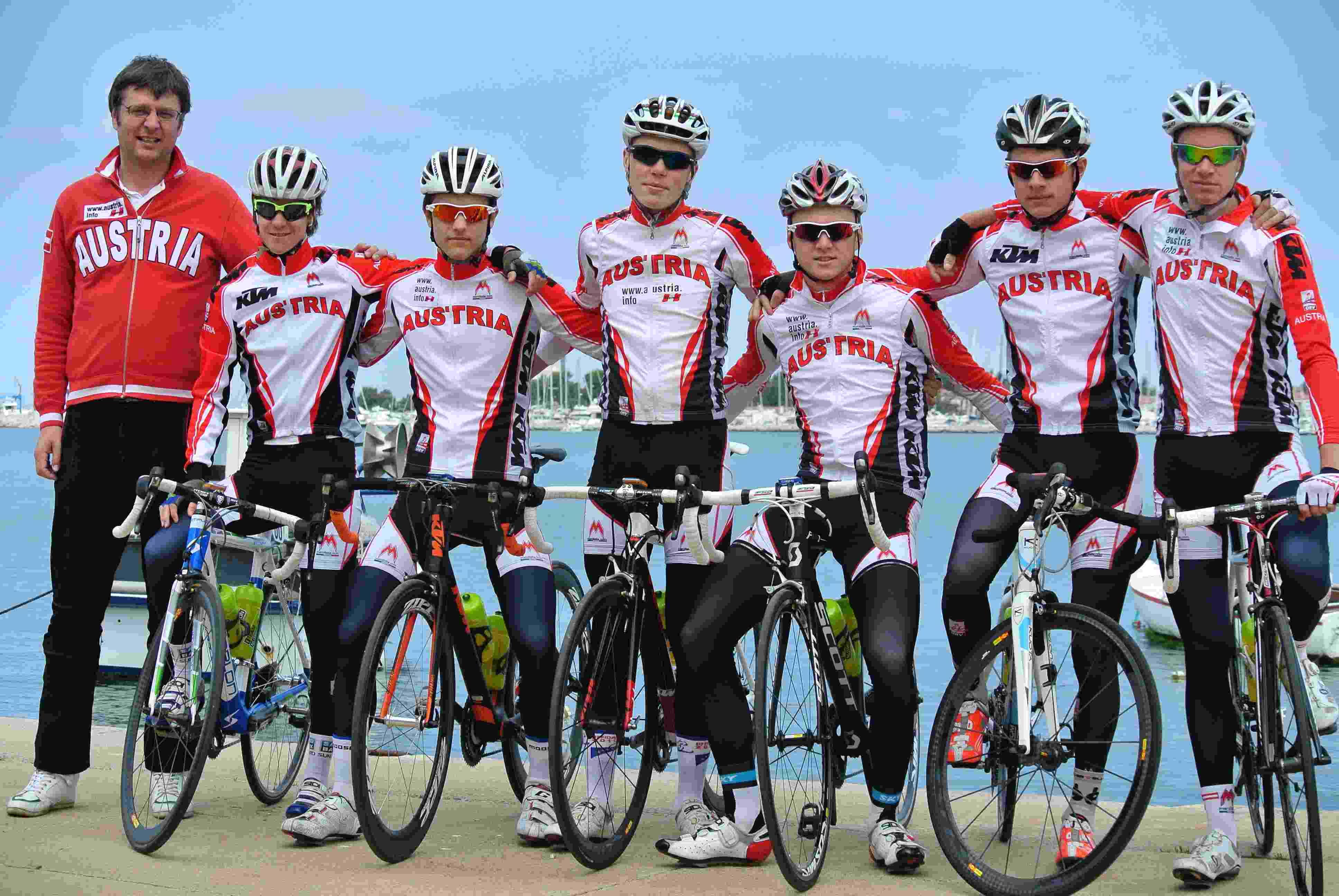 internationales radrennen der junioren - österreichische nationalmannschaft